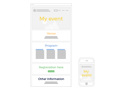 Launch the event Website and App