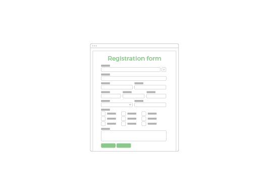 Build dynamic registration forms
